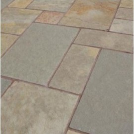 600 MSP, 19.50 m2 Yellow Lime 22 mm Calibrated Limestone Paving Slab