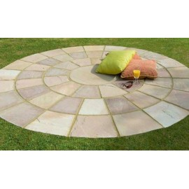 Dia 3.30 Mtrs Circle Set Raj Green Sandstone