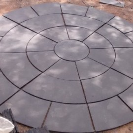 Dia 3.30 Mtrs Circle Set Black Limestone