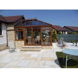 600 MSP, 19.50 m2 Mint Goose 22 mm Sawn Calibrated Sandstone Paving Slab