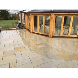 600 MSP, 19.50 m2 Santa Fee Smooth Sawn Sandstone Paving Slabs