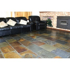600×400 mm, 28 m2 Jak Multi Color Slate Tiles