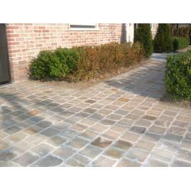 150 MSP, 10.80 m2 Raj Green Sandstone Cobbles Setts