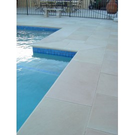 600×400 Pack 22.00m2 Mint Goose 22 mm Smooth Sawn Calibrated Sandstone Paving Slab
