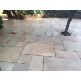 600×400, 22 m2 Caramel Buff Smooth Sawn Sandstone Paving Slabs