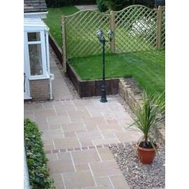 560 MSP, 19.35 m2 Autumn Brown 22 mm Calibrated Sandstone Paving Slab