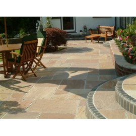 600 MSP 19.50m2 Autumn Brown 22mm Calibrated Sandstone Paving Slab