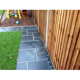 600 MSP, 19.50 m2 Black Lime 22 mm Calibrated Limestone Paving Slab