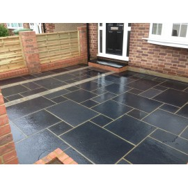 600×900 Pack 20 m2 Black Lime 22 mm Calibrated Limestone Paving Slab