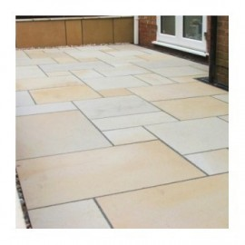 1000×1000 King Size 30m2 Mint Goose 22 mm Smooth Sawn Calibrated Sandstone Paving