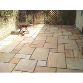 600 MSP, 19.50 m2 Rippon Buff 22 mm Calibrated Sandstone Paving Slab