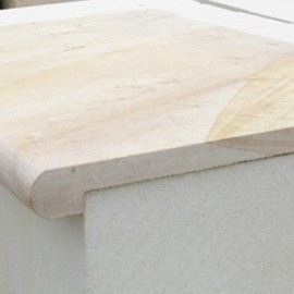 Mint 400×400 mm Rebated Bullnose Coping for Pool, Stair Balcony, Wall Capping