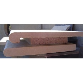 Mint 600×400 mm Rebated Bullnose Coping for Pool, Stair, Balcony, Wall Capping