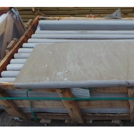 Raj Green 600×400 mm Sandstone Bullnose Coping for Pool, Stair, Balcony