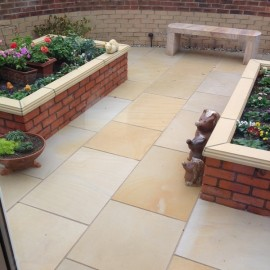 600 MSP, 19.50 m2 Mint Sandblast 22 mm Calibrated Sandstone Paving Slab