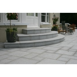600 MSP 19.50m2 Silver Grey Flamed Granite Paving 22mm