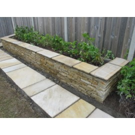600×295 Pack 20.10 m2 Mint Fossil 22 mm Calibrated Sandstone Wall Capping / Paving