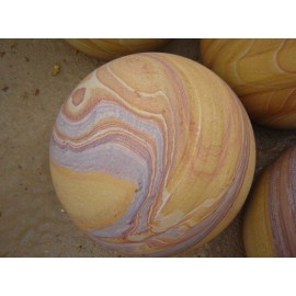 Rainbow Natural Stone Sphere / Ball 200mm Diameter
