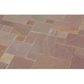 600 MSP, 19.50 m2 Autumn Brown 20-30 mm Thick Sandstone Paving Slab
