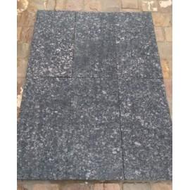 600 ×600 Pack 10.08 m2 Black Pearl 30mm Flamed Brushed Granite Paving