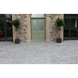 600 MSP, 19.50 m2 Ash Grey Half Honed Limestone Paving Slab