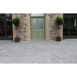 600x900mm Single Size, 20m2 Ash Grey Half Honed Limestone Paving Slab