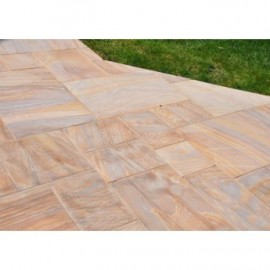 600 MSP, 19.50 m2 Rainbow Smooth Sandstone Paving